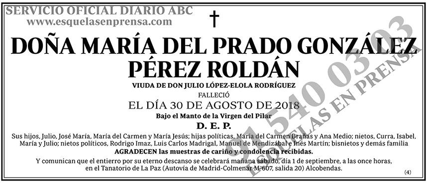 María del Prado González Pérez Roldán